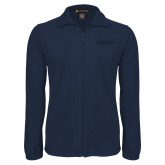 Fleece Full Zip Navy Jacket-Arched Connecticut College