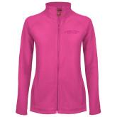 Ladies Fleece Full Zip Raspberry Jacket-Arched Connecticut College