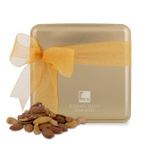 Deluxe Nut Medley Gold Medium Tin-Institutional Mark  Engraved
