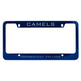 Metal Blue License Plate Frame-Camels
