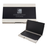 Bey Berk Carbon Fiber Business Card Holder-Institutional Mark  Engraved