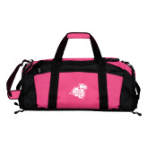 Tropical Pink Gym Bag-Camel with CC