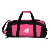 Tropical Pink Gym Bag-Camel with CC