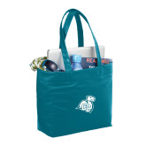 Fine Society Teal Computer Tote-Camel with CC