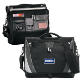 Slope Black/Grey Compu Messenger Bag-Standard Logo