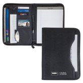 Wall Street Black Zippered Padfolio-Global Luxury