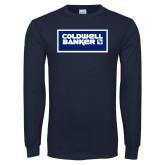 Navy Long Sleeve T Shirt-Standard Logo
