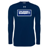 Under Armour Navy Long Sleeve Tech Tee-Standard Logo
