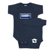 Navy Infant Onesie-Standard Logo