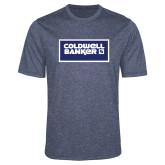 Performance Navy Heather Contender Tee-Standard Logo