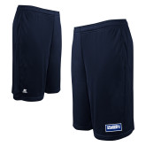 Russell Performance Navy 10 Inch Short w/Pockets-Standard Logo