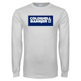 White Long Sleeve T Shirt-Standard Logo
