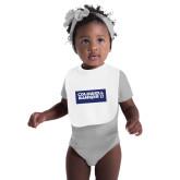 White Baby Bib-Standard Logo