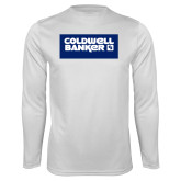 Performance White Longsleeve Shirt-Standard Logo