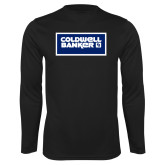 Performance Black Longsleeve Shirt-Standard Logo