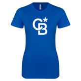 Next Level Ladies SoftStyle Junior Fitted Royal Tee-CB Mark