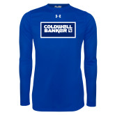 Under Armour Royal Long Sleeve Tech Tee-Standard Logo