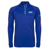 Under Armour Royal Tech 1/4 Zip Performance Shirt-Standard Logo