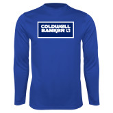 Performance Royal Longsleeve Shirt-Standard Logo