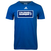 Adidas Climalite Royal Ultimate Performance Tee-Standard Logo