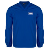 V Neck Royal Raglan Windshirt-Standard Logo