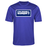Performance Royal Heather Contender Tee-Standard Logo