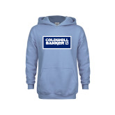 Youth Light Blue Fleece Hoodie-Standard Logo