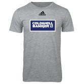 Adidas Sport Grey Logo T Shirt-Standard Logo