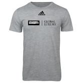 Adidas Sport Grey Logo T Shirt-Global Luxury
