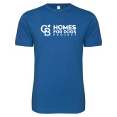 Next Level SoftStyle Royal T Shirt-Homes For Dogs White