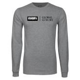 Grey Long Sleeve T Shirt-Global Luxury