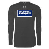 Under Armour Carbon Heather Long Sleeve Tech Tee-Standard Logo