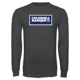Charcoal Long Sleeve T Shirt-Standard Logo