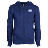 ENZA Ladies Royal Fleece Full Zip Hoodie-Standard Logo