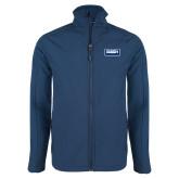Navy Softshell Jacket-Standard Logo