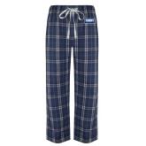 Navy/White Flannel Pajama Pant-Standard Logo