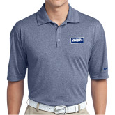 Nike Golf Dri Fit Navy Heather Polo-Standard Logo