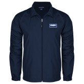Full Zip Navy Wind Jacket-Standard Logo