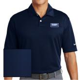 Nike Dri Fit Navy Pebble Texture Sport Shirt-Standard Logo