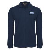 Fleece Full Zip Navy Jacket-Standard Logo