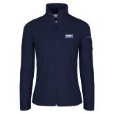 Columbia Ladies Full Zip Navy Fleece Jacket-Standard Logo