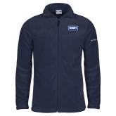 Columbia Full Zip Navy Fleece Jacket-Standard Logo
