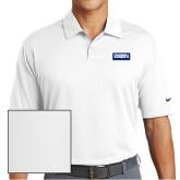 Nike Dri Fit White Pebble Texture Sport Shirt-Standard Logo
