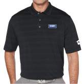 Callaway Horizontal Textured Black Polo-Standard Logo