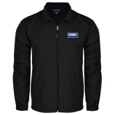 Full Zip Black Wind Jacket-Standard Logo
