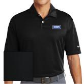 Nike Dri Fit Black Pebble Texture Sport Shirt-Standard Logo