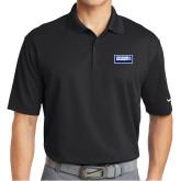 Nike Golf Dri Fit Black Micro Pique Polo-Standard Logo