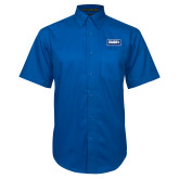 Royal Twill Button Down Short Sleeve-Standard Logo