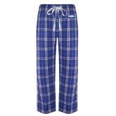 Royal/White Flannel Pajama Pant-Standard Logo