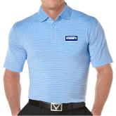 Callaway Core Stripe Light Blue/White Polo-Standard Logo